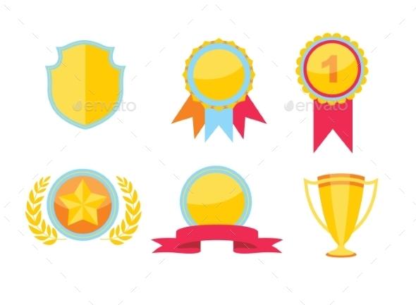 Trophy Set - Decorative Vectors