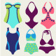 Vector Set of Fashion Collection Swimming Suits  - GraphicRiver Item for Sale