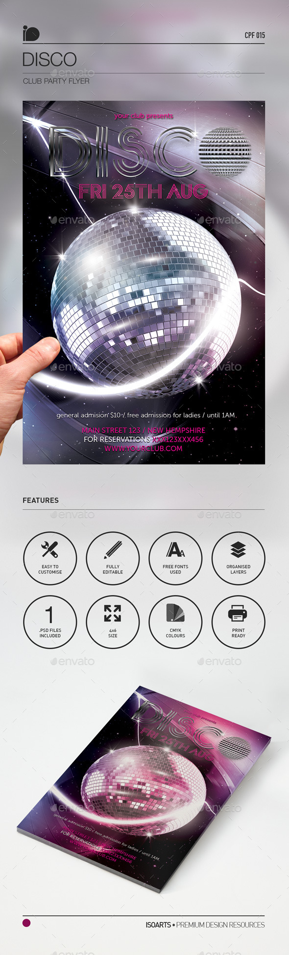 Club Party Flyer •  Disco - Clubs & Parties Events