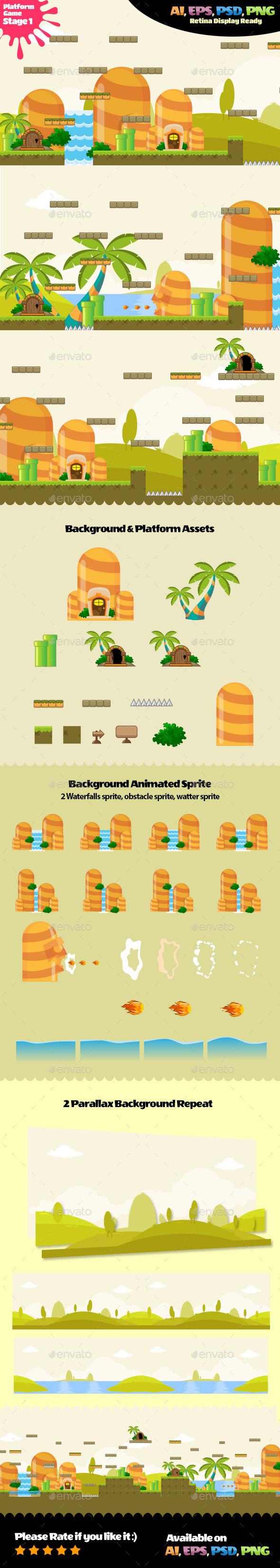 Platform Assets Stage 01 - Game Kits Game Assets