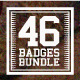 46 Badges and Logos Bundle - GraphicRiver Item for Sale