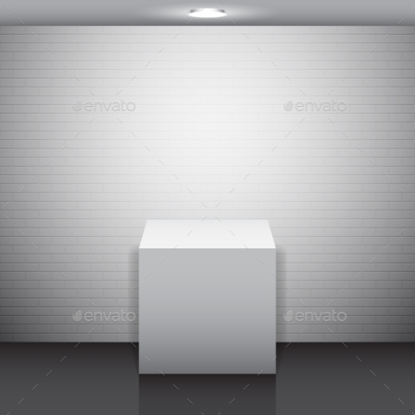 Empty White Stand - Commercial / Shopping Conceptual