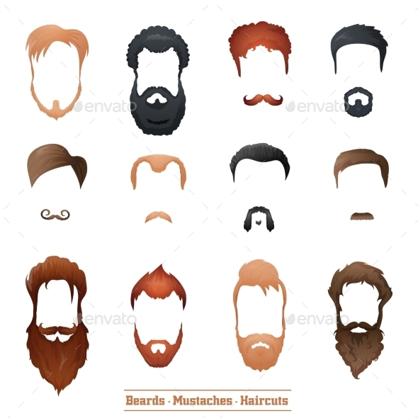 Beards and Mustaches, Hairstyles - People Characters