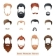Beards and Mustaches, Hairstyles - GraphicRiver Item for Sale