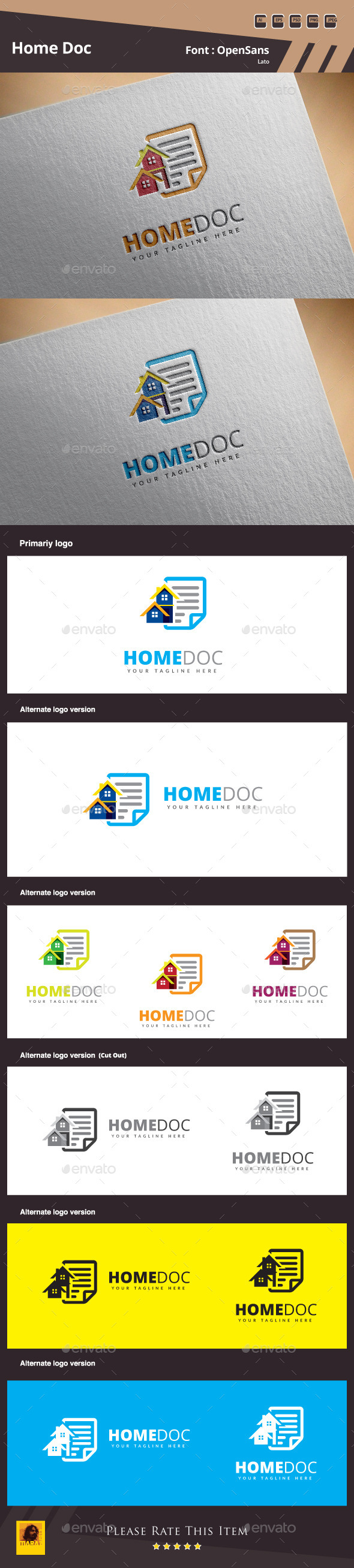 Home Doc Logo Template - Buildings Logo Templates