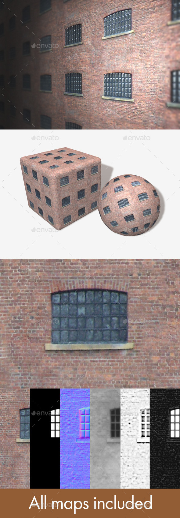 Old Building Seamless Texture - 3DOcean Item for Sale