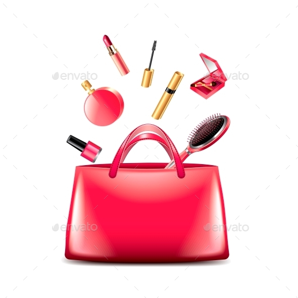 Women Bag with Cosmetics - Commercial / Shopping Conceptual