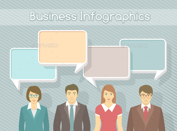 Business Team Infographics Elements - Business Conceptual
