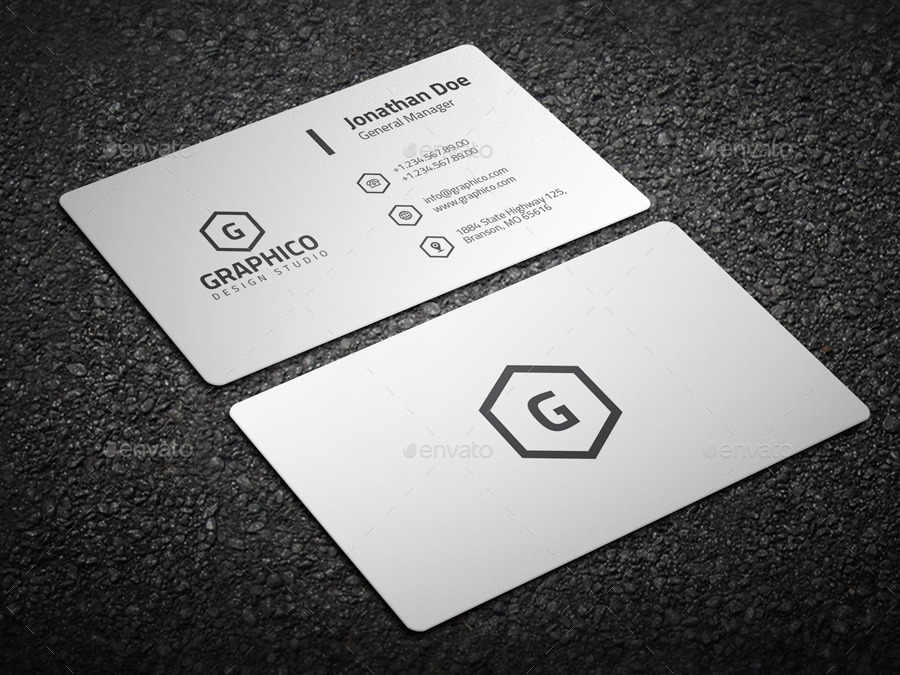 2 in 1 Black & White Business Card - 53 by nazdrag | GraphicRiver