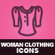 Hand Drawn Woman Clothing Icons - GraphicRiver Item for Sale