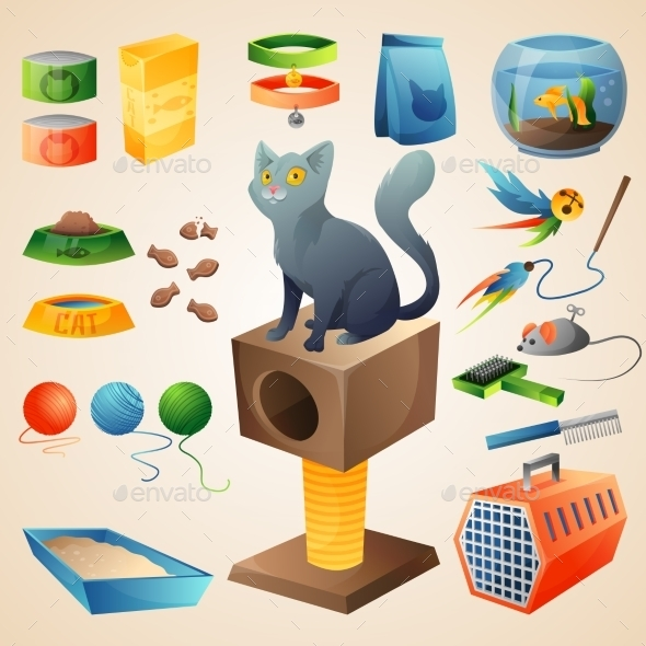Cat Stuff Set - Animals Characters