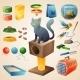 Cat Stuff Set - GraphicRiver Item for Sale