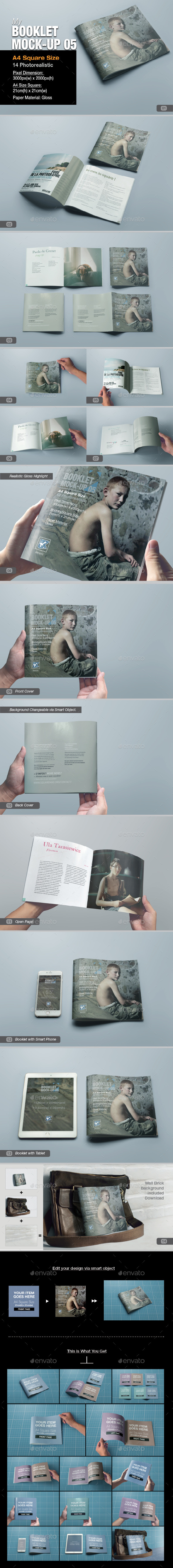 myBooklet Mock-up 05 - Brochures Print