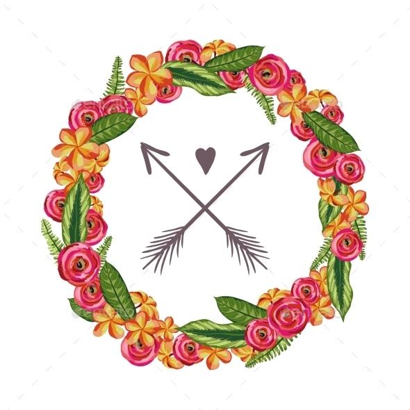 Flower Wreath  - Decorative Symbols Decorative