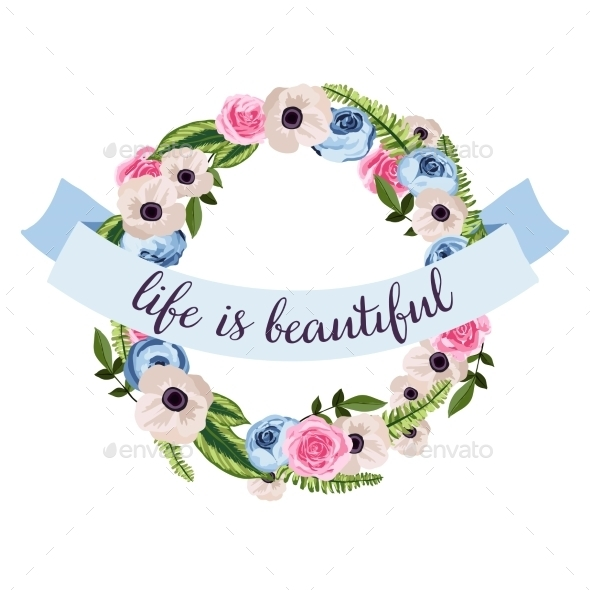 Flower Wreath  - Decorative Symbols Decorative
