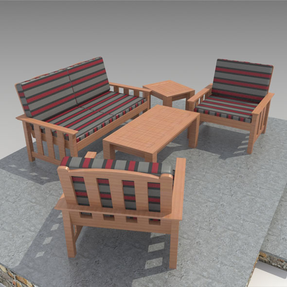 Outdoor Furniture-3 - 3DOcean Item for Sale