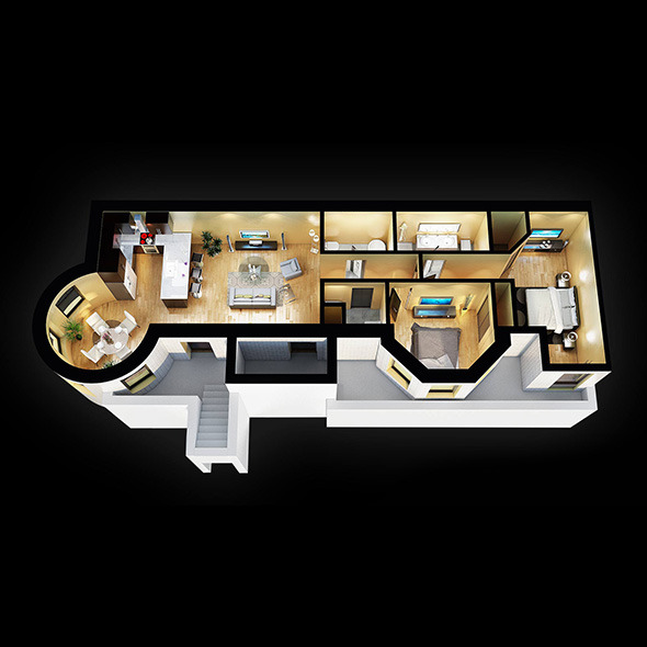 3D Floor plan - 3DOcean Item for Sale