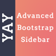 Yay - Advanced Sidebar for Bootstrap - CodeCanyon Item for Sale