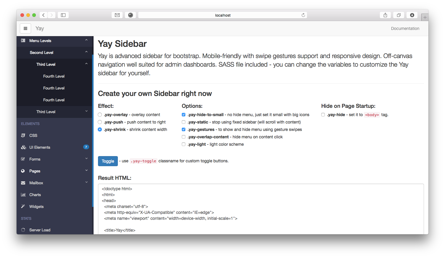 Style scrollbar bootstrap