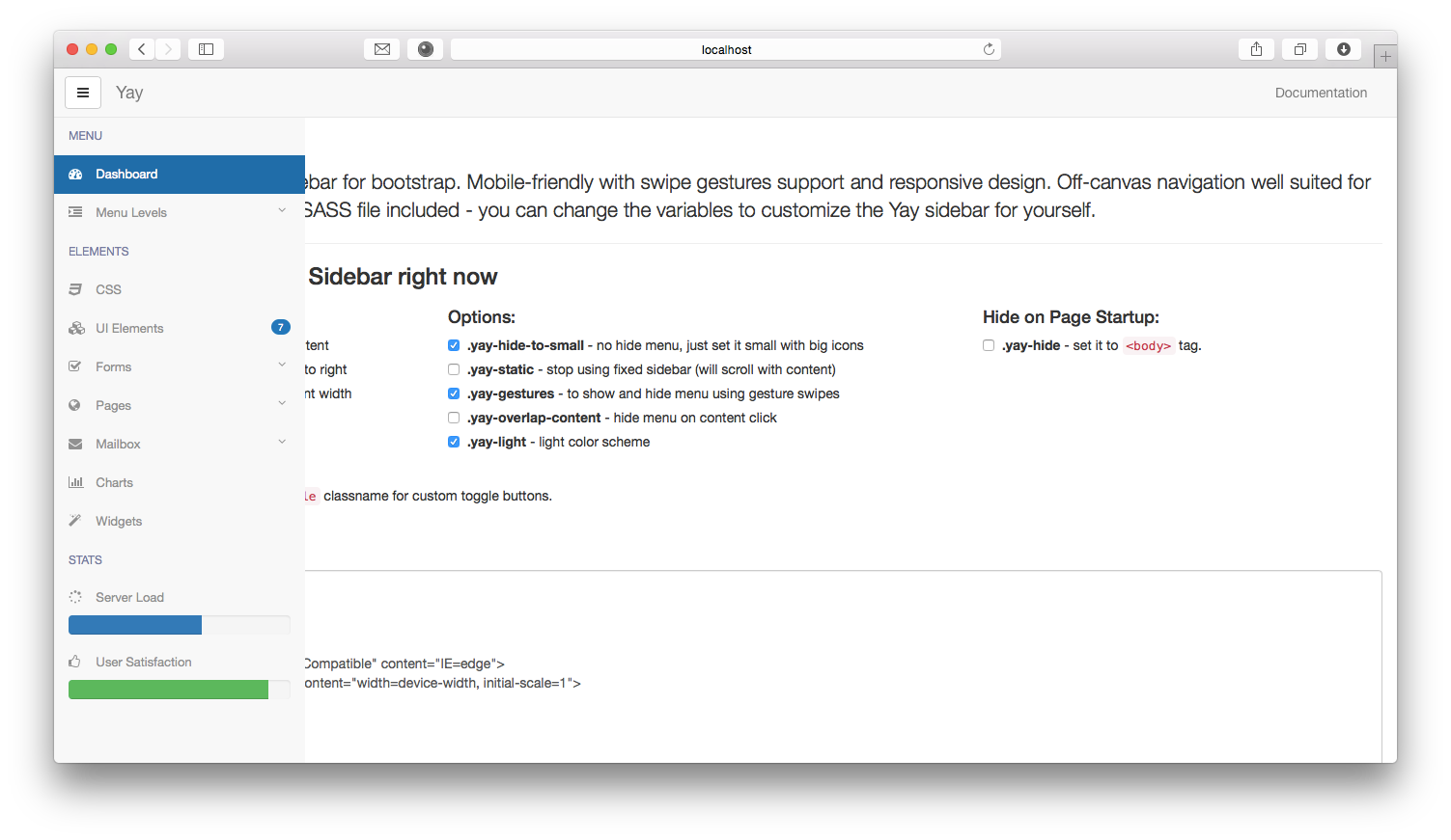 how to make a sidebar bootstrap 4