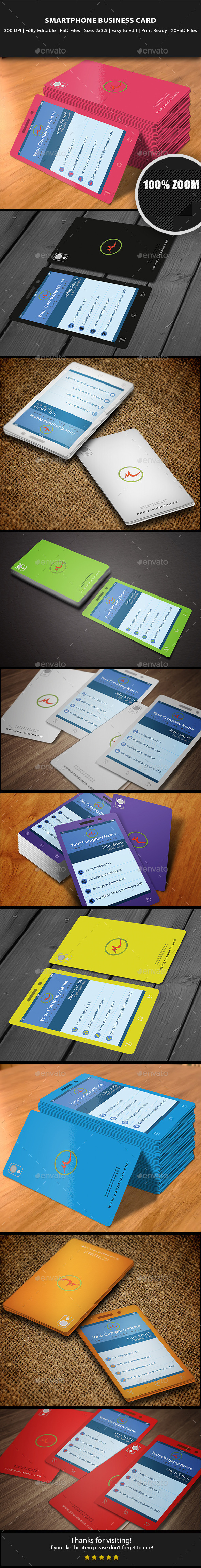 Smartphone Business Card - Creative Business Cards