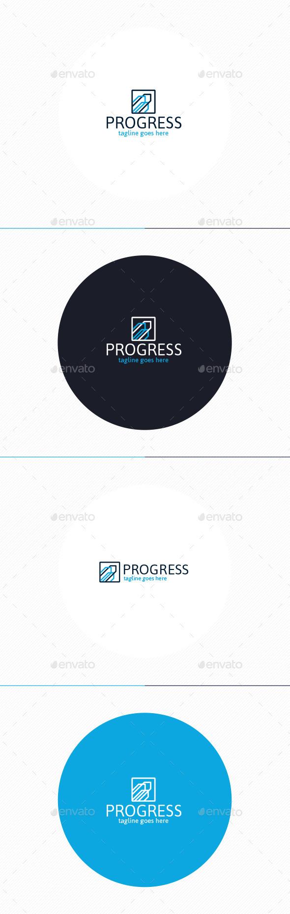 Progress Logo - Vector Abstract