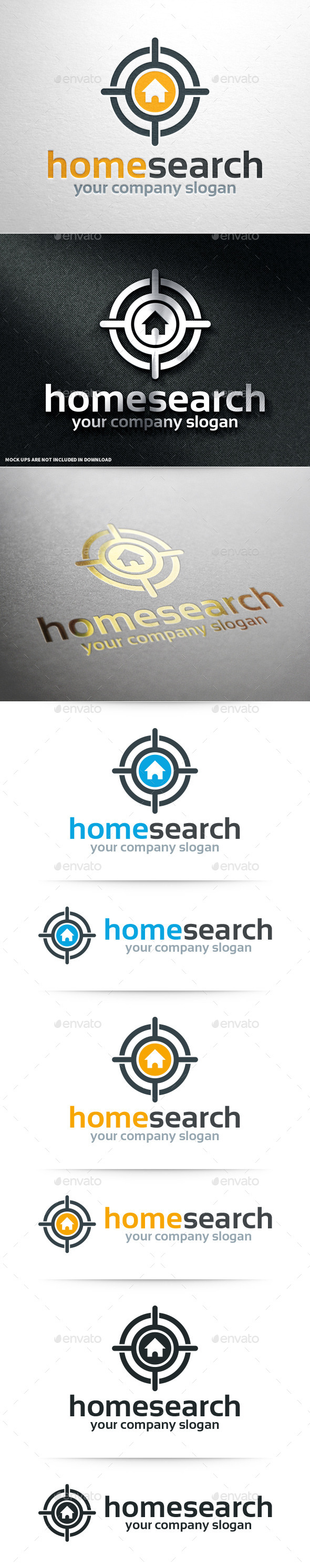 Home Search Logo Template - Objects Logo Templates