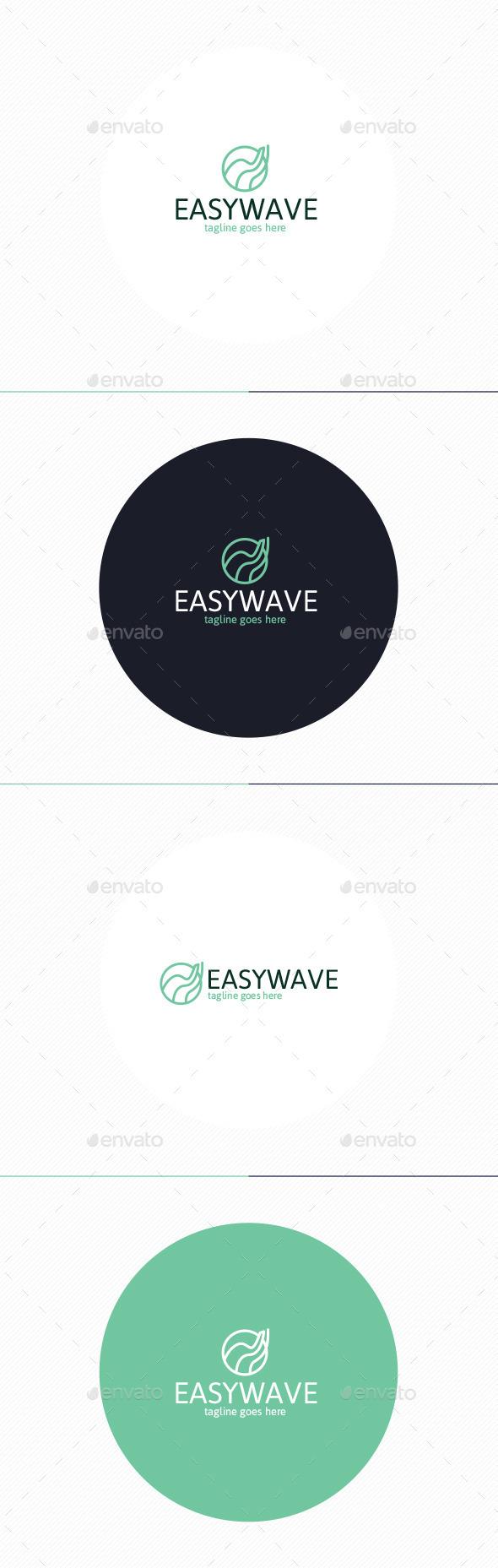 Easy Wave Logo - Vector Abstract