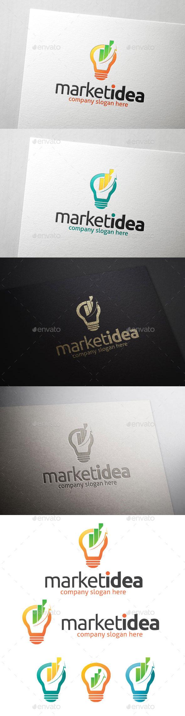 Market Idea Logo Template - Symbols Logo Templates