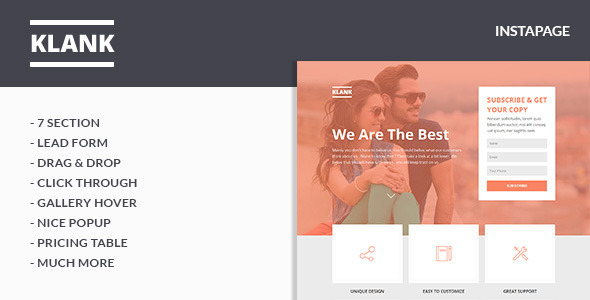 Klank - Instapage Landing Page - Instapage Marketing
