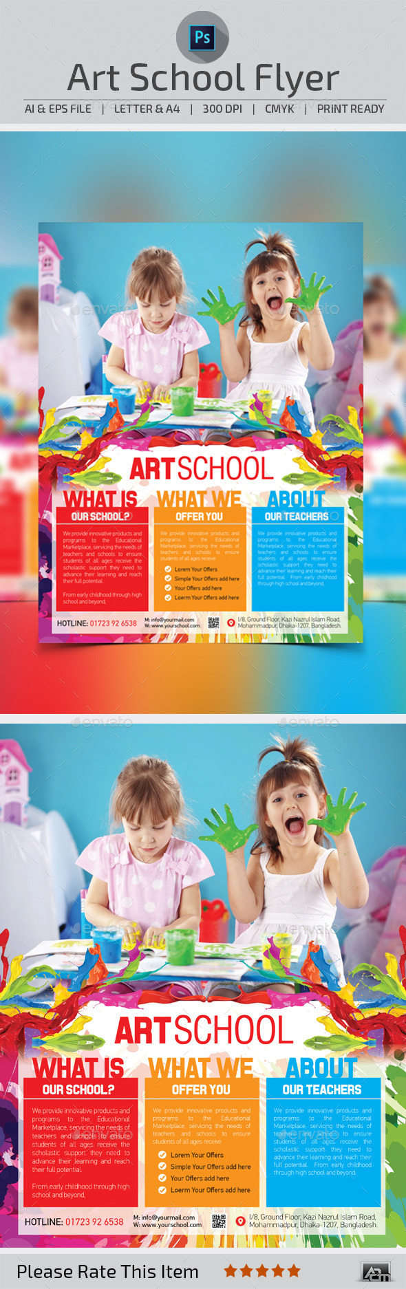 Art School Flyer Template - Flyers Print Templates