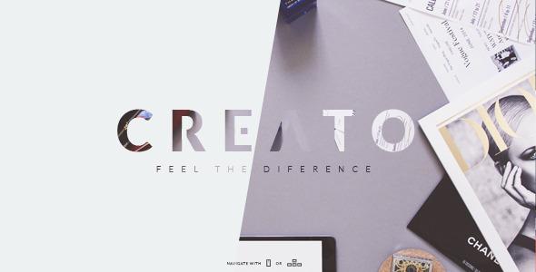 Creato – Creative & Modern PSD Template