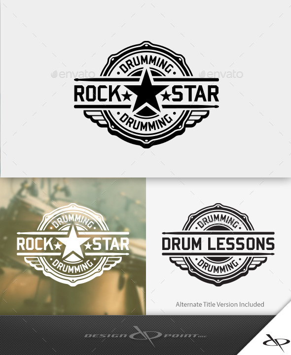 Drum Rock Star Logo By Designpoint Graphicriver