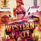 Flyer Western Party Konnekt - GraphicRiver Item for Sale