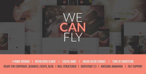 WeCanFly – Multipurpose Respnsive Corporate Theme