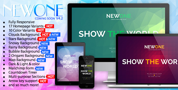 Newone – Responsive Coming Soon Page