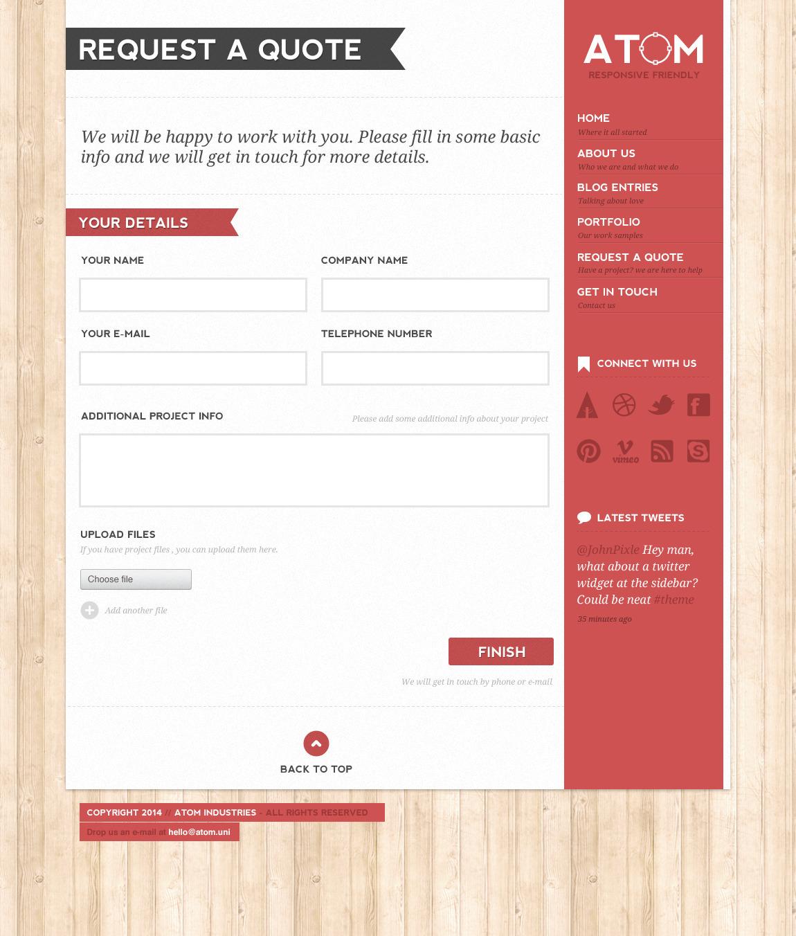 Atom - A Design Studio PSD Template by wpsitenet | ThemeForest