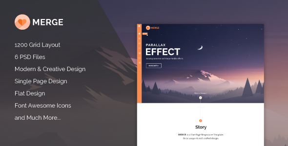 Merge - Multipurpose Single Page PSD Theme