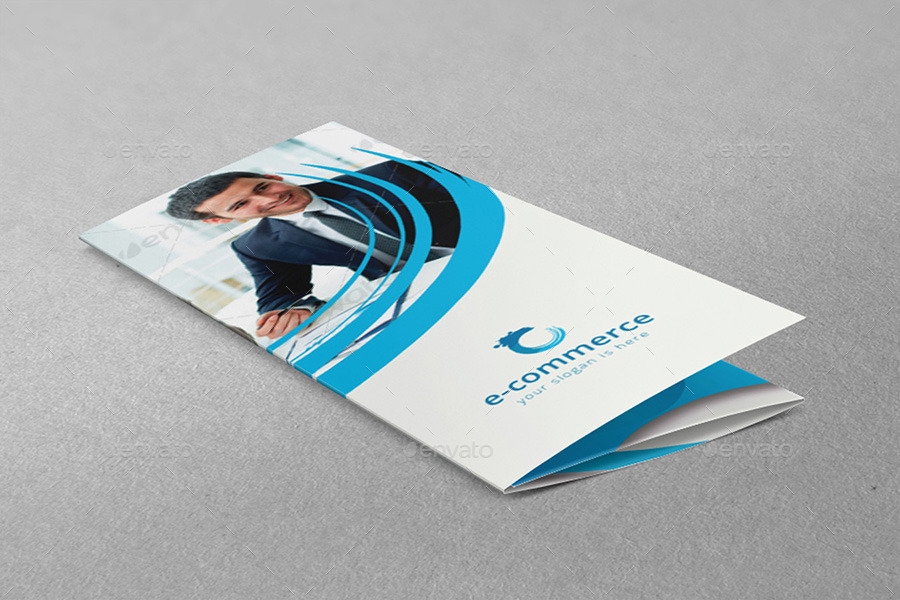 E-Commerce Business Tri-Fold Brochure by dotnpix | GraphicRiver