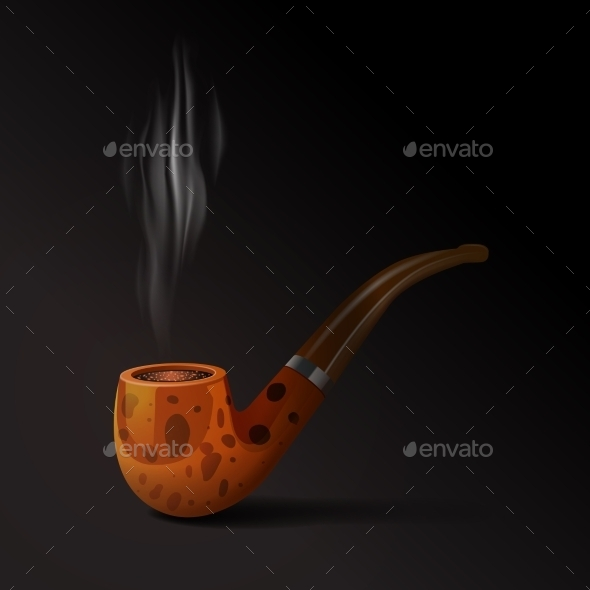 Tobacco Pipe Illustration - Objects Vectors