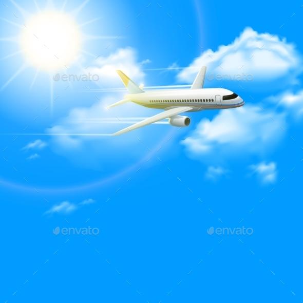 Realistic Plane Poster - Travel Conceptual