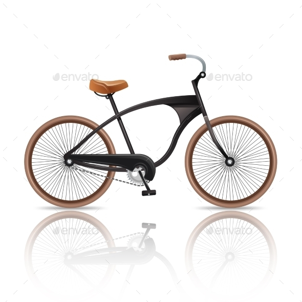 Realistic Bicycle Isolated - Travel Conceptual