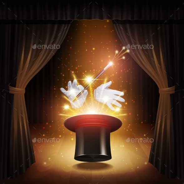 Magic Trick Background - Backgrounds Decorative