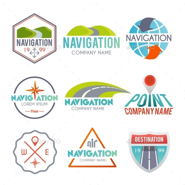Navigation Label Set - Travel Conceptual