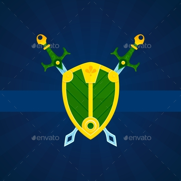 Shield and Swords Poster - Backgrounds Decorative