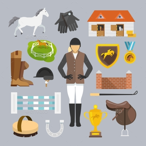 Jockey Icons Flat - Miscellaneous Vectors