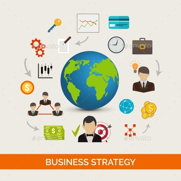 Business Strategy Concept - Business Conceptual