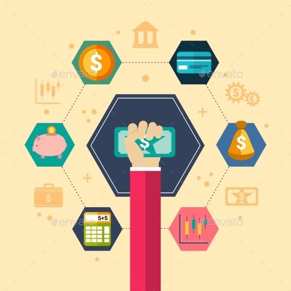 Financial Concept Illustration - Business Conceptual