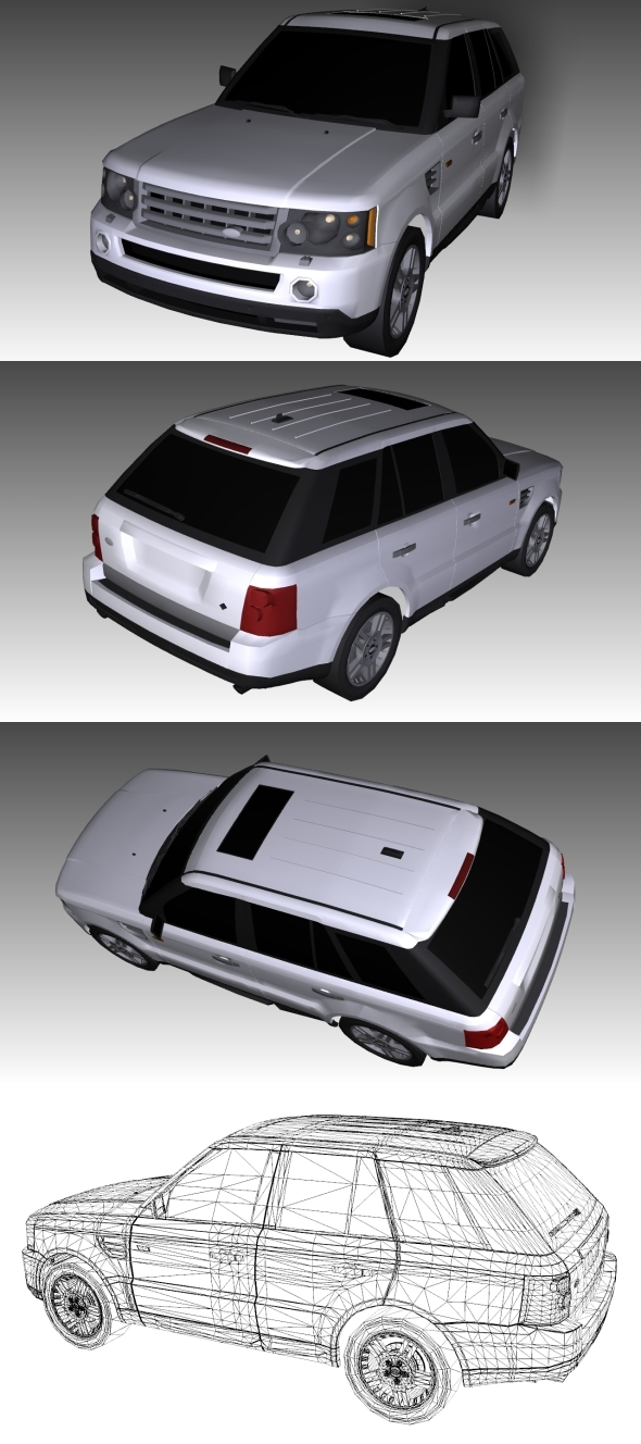 Low Poly Range Rover - 3DOcean Item for Sale