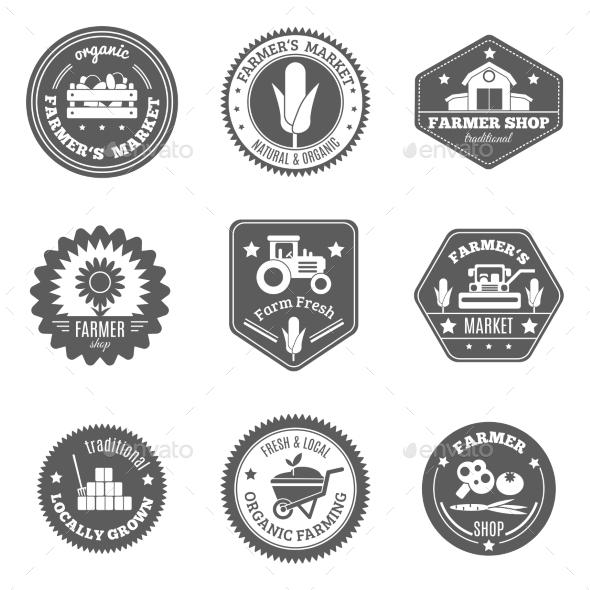 Farmer Label Set - Nature Conceptual